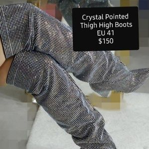 Fashion Nova Crystal Pointed Boots
